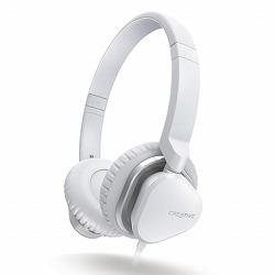 クリエイティブメディア マイク付ヘッドホン ホワイト HS-MA2400-WH