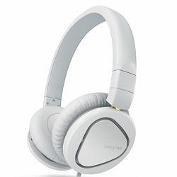 クリエイティブメディア マイク付ヘッドホン ホワイト HS-MA2600-WH