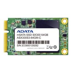 ADATA ASX300S3-64GM-C ADATA SX300 mSATA SSD 6G/b 【 64 GB 】