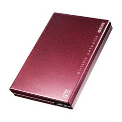 アイ・オー・データ機器 USB3.0対応 ポータブルHDD 赤紫 1TB HDPC-UT1.0BRC