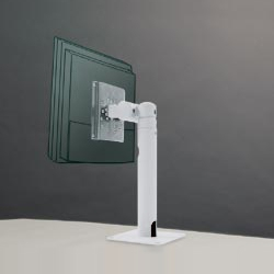 アルファーテック PS-5DM-LG ディスプレイスタンド 8Kg対応 固定式スタンド 卓上アダプタ一体型(ライトグレー)