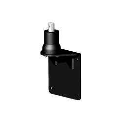 アルファーテック PS9-N902-B PS9シリーズ用 壁・パネル取付ブラケット(取付穴径7mm・ブラック)