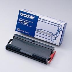 ブラザー工業 PC-551 普通紙ファクシミリ用カセット付きリボン PC-551