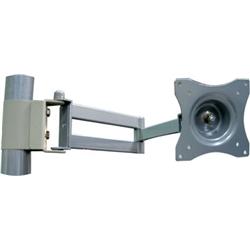 (有)ドーフィールドジャパン A-816 液晶モニタ用水平アーム シルバー パイプ取付 VESA75/100対応 耐荷重15kg