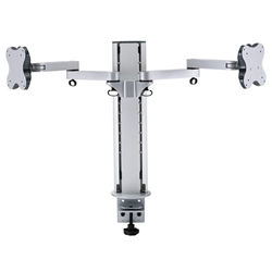 (有)ドーフィールドジャパン EGL-202D 液晶モニタ用デュアルディスプレイアーム シルバー VESA75/100対応 耐荷重12kg