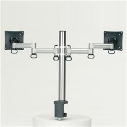 (有)ドーフィールドジャパン TKLA-6032-S 液晶モニタ用マルチアーム(1段1列2台) シルバー クランプ 耐荷重6kg(1アーム)