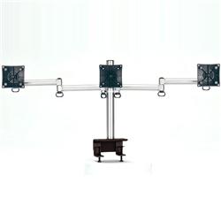(有)ドーフィールドジャパン TKLA-6033-S 液晶モニタ用マルチアーム(1段3列3台) シルバー クランプ 耐荷重6kg(1アーム)