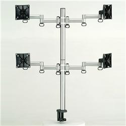 (有)ドーフィールドジャパン TKLA-6034-S 液晶モニタ用マルチアーム(2段2列4台) シルバー クランプ 耐荷重6kg(1アーム)