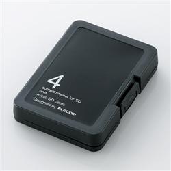 エレコム CMC-SDCPPBK SD/microSD用メモリカードケース/プラスティックタイプ(メカニックブラック)