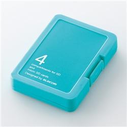 エレコム CMC-SDCPPBU SD/microSD用メモリカードケース/プラスティックタイプ(スカイブルー)