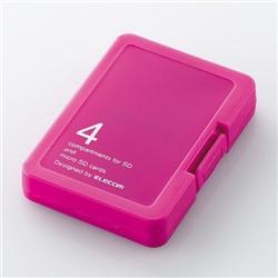 エレコム CMC-SDCPPPN SD/microSD用メモリカードケース/プラスティックタイプ(バタフライピンク)
