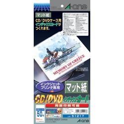 エーワン 51217 CD/DVDカードIJ用マット紙25入り