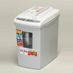 アイリスオーヤマ P5GM WG 安全設計ペーパーシュレッダー(ホワイト/グレー)/クロスカットタイプ