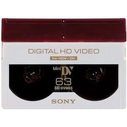 ソニー DVM63HD ミニDVカセット 63分 ICメモリーなし