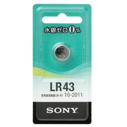 ソニー LR43-ECO 水銀0%アルカリボタン電池 LR43