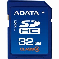 ADATA ASDH32GCL4-R ADATA SDHCカード Class4【32GB】