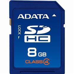 ADATA ASDH8GCL4-R ADATA SDHCカード Class4【8GB】