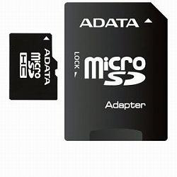 ADATA AUSDH16GCL4-RA1 ADATA microSDHCカード Class4【16GB】アダプタ付き