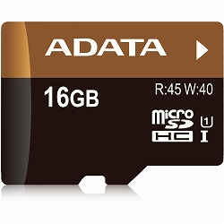 ADATA AUSDH16GUI1-RA1 microSDHCカード UHS-I 【16GB】アダプタ付き