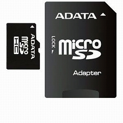 ADATA AUSDH32GCL4-RA1 ADATA microSDHCカード Class4【32GB】アダプタ付き