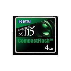 アイ・オー・データ機器 コンパクトフラッシュ(CD 115倍速相当)4GB CF115-4G