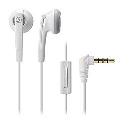 オーディオテクニカ ATH-C505iS WH スマートフォン用インナーイヤーヘッドホン ホワイト