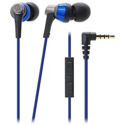 オーディオテクニカ ATH-CKR3i BL iPod/iPhone/iPad専用インナーイヤーヘッドホン ブルー