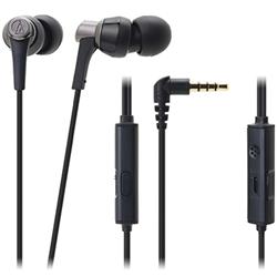 オーディオテクニカ ATH-CKR3iS BK スマートフォン用インナーイヤーヘッドホン ブラック