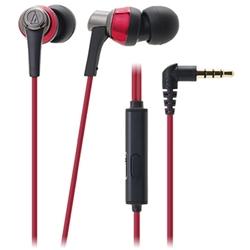 オーディオテクニカ ATH-CKR3iS RD スマートフォン用インナーイヤーヘッドホン レッド