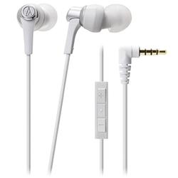 オーディオテクニカ ATH-CKR3i WH iPod/iPhone/iPad専用インナーイヤーヘッドホン ホワイト