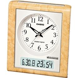 ioPLAZA【アイ・オー・データ直販サイト】カシオ計算機 TQT-351NJ-7JF カシオ 電子アラーム 温度計 湿度計 常時点灯 電波時計 置時計 クロック