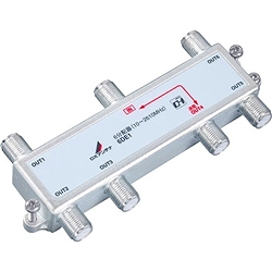 DXアンテナ 6DE1 屋内用6分配器(入力-出力1端子間通電)