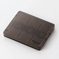 エレコム CMC-06SD メモリカードケース 大容量タイプ SD用(クリアブラック)