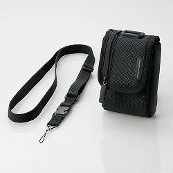 エレコム DGB-056BK 首ひも付デジタルカメラケース/ブラック