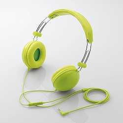 エレコム EHP-SMOH100GN スマートフォン用 ステレオヘッドホンマイク/オーバーヘッド/密閉型/グリーン