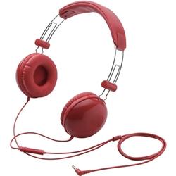 エレコム EHP-SMOH100RD スマートフォン用 ステレオヘッドホンマイク/オーバーヘッド/密閉型/レッド