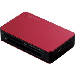 エレコム MR3-C002RD USB3.0対応 メモリカードリーダ/4スロット/48種類+6メディア対応/レッド