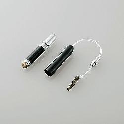 エレコム P-TPSSBK スマートフォン・タブレット用 キャップ付きタッチペン/ブラック