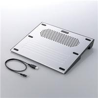 エレコム SX-CL07SV ノートパソコン用冷却台 / 12.1?15.4インチワイド用 「冷え冷えクーラー」(シルバー)