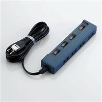 ioPLAZA【アイ・オー・データ直販サイト】エレコム T-C02-2420BU OAタップ/coler style/個別スイッチ/4口/2m/ブルー