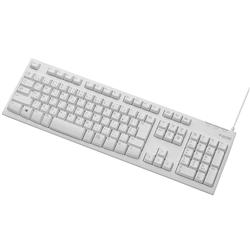 エレコム TK-FCM062WH メンブレン式キーボード/108キー/USB/Lサイズ/1000万回高耐久/ホワイト