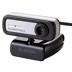 エレコム UCAM-C0220FBBK 内蔵マイクタイプ 200万画素Webカメラ/USB2.0/CMOS/ブラック