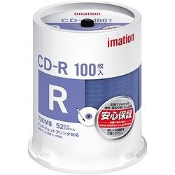 イメーション CDR80PWB100SAIM 700MB/52X プリンタブルホワイト スピンドルケース100枚入
