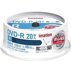 イメーション DVDR120PWBC20SAIM DVD-R 録画用 120分 1-16X CPRM プリンタブルホワイトワイド スピンドルケース20枚入