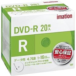 イメーション DVDR4.7PWB20PAIM DVD-R PCデータ用 4.7GB 1-16X プリンタブルホワイトワイド 5mmスリムケースx20枚