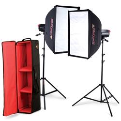 ケンコー・トキナー 079036 PHOTOFLEX 照明・撮影LEDライト ノーススターLEDライト ソフトボックス2灯キット