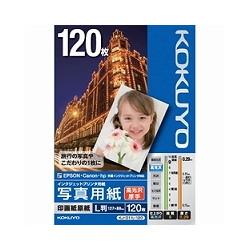 ioPLAZA【アイ・オー・データ直販サイト】コクヨS&T KJ-D11L-120 IJP用写真用紙 印画紙原紙(高光沢・厚手) L版 120枚