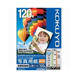 ioPLAZA【アイ・オー・データ直販サイト】コクヨS&T KJ-D12L-120 IJP用写真用紙 印画紙原紙(高光沢) L版 120枚
