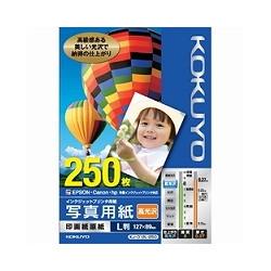 ioPLAZA【アイ・オー・データ直販サイト】コクヨS&T KJ-D12L-250 IJP用写真用紙 印画紙原紙(高光沢) L版 250枚
