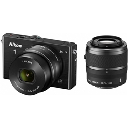 ニコン N1J4WZBK Nikon1 J4 ダブルズームキット ブラック